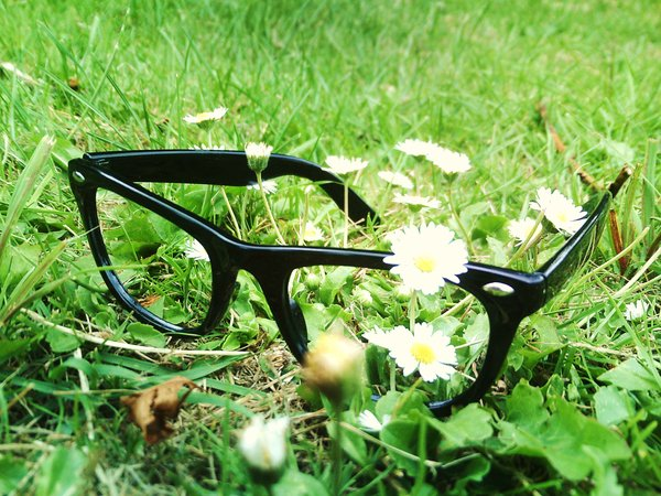 Glasses_In_The_Grass_by_unhappyspoon